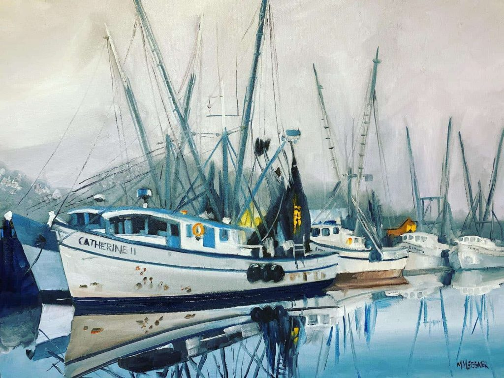 Shrimpboats at rest at the dock