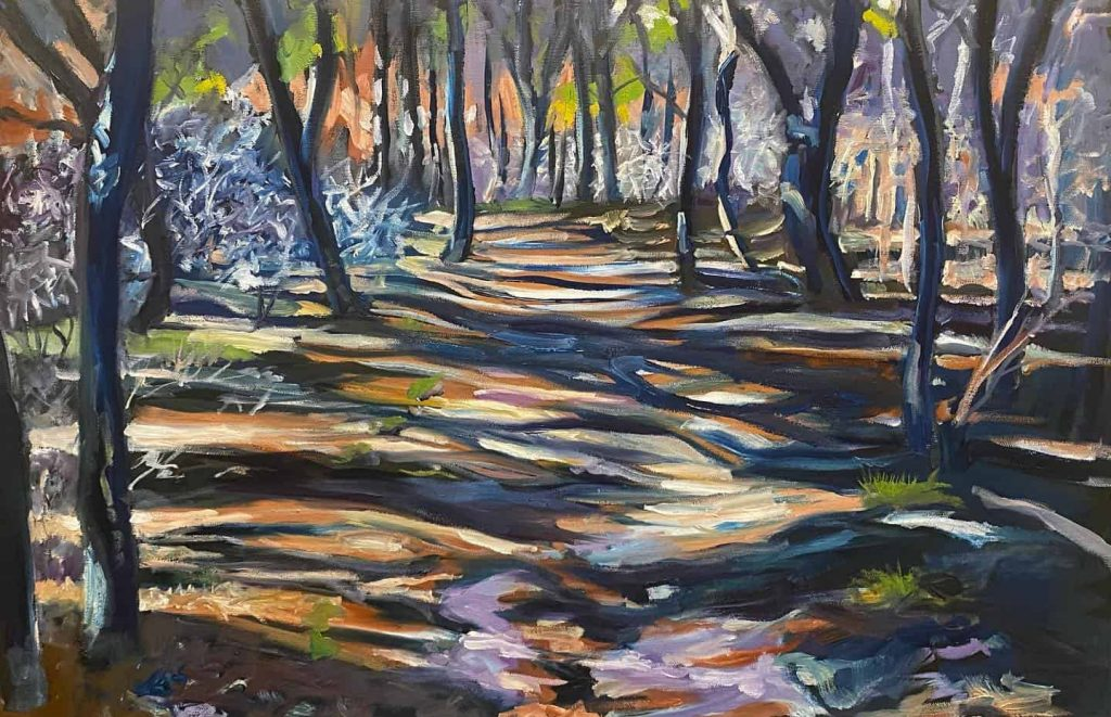 White Cedar Swap Trail Georgia art painting