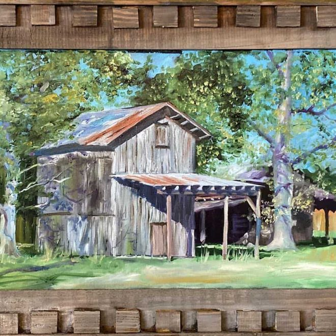 Tobacco Barn painting