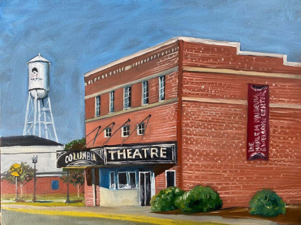 The Columbia theater art