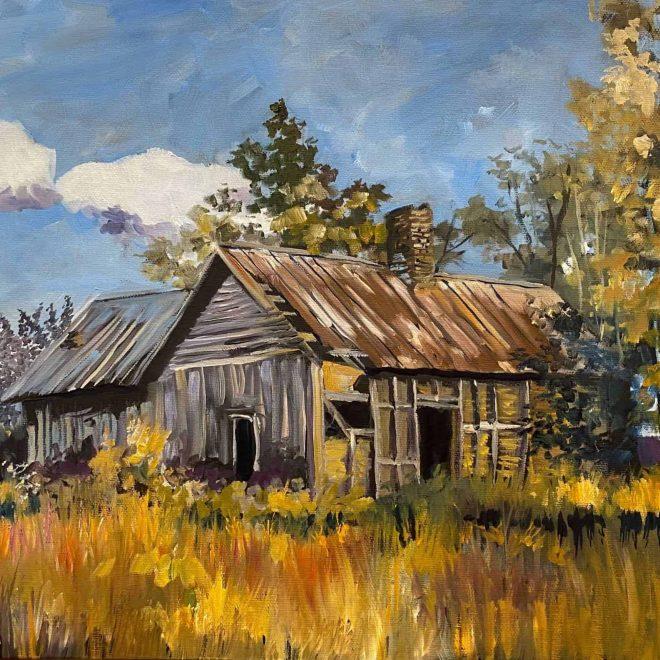 weather beaten cabin that has seen better days