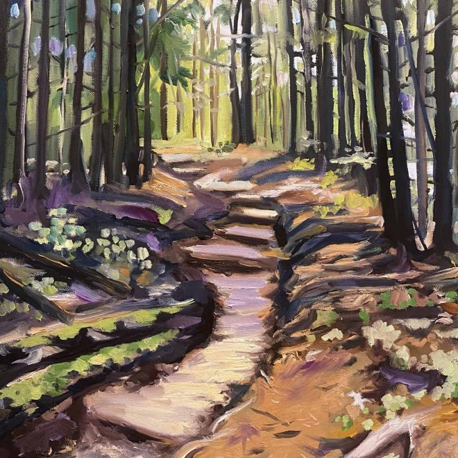 Andrews Bald Trail Painting
