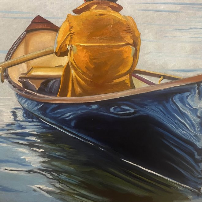 row boat painting