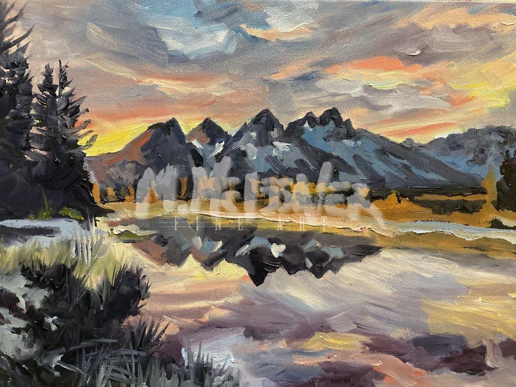 tetons painting